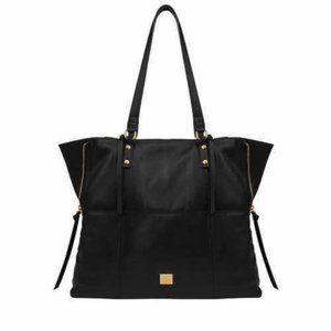 Kooba Genuine Leather Tote Bag Black Sz Med Purse